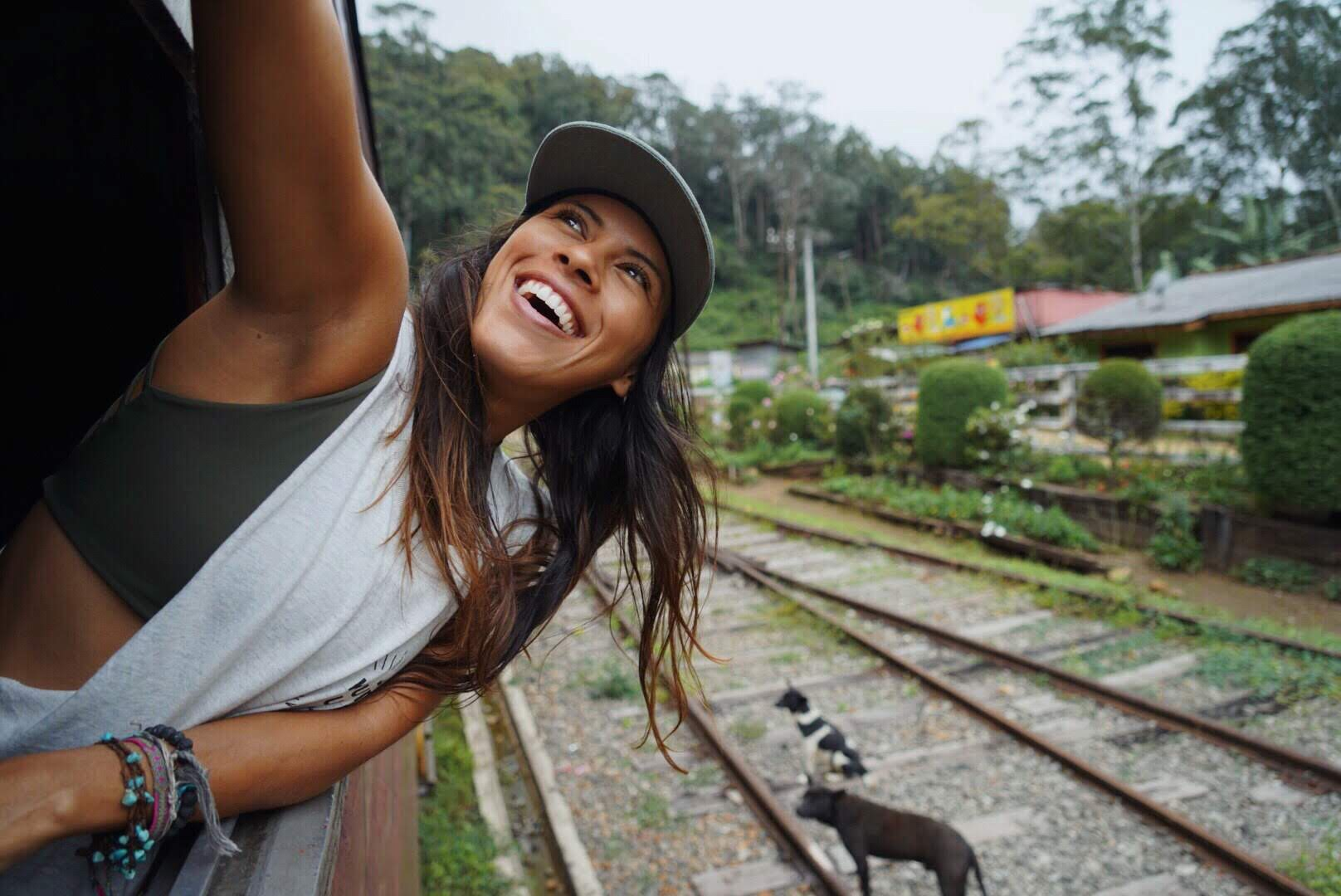 Freedive instructor girl