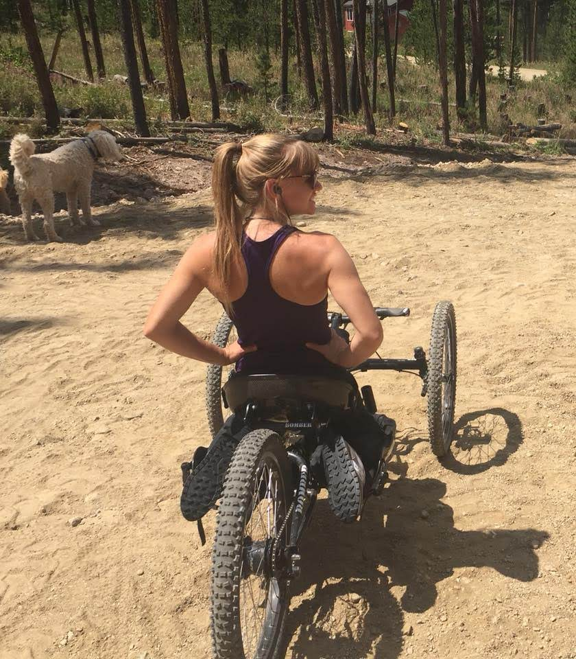 bike for people with disability retired paralympian skier