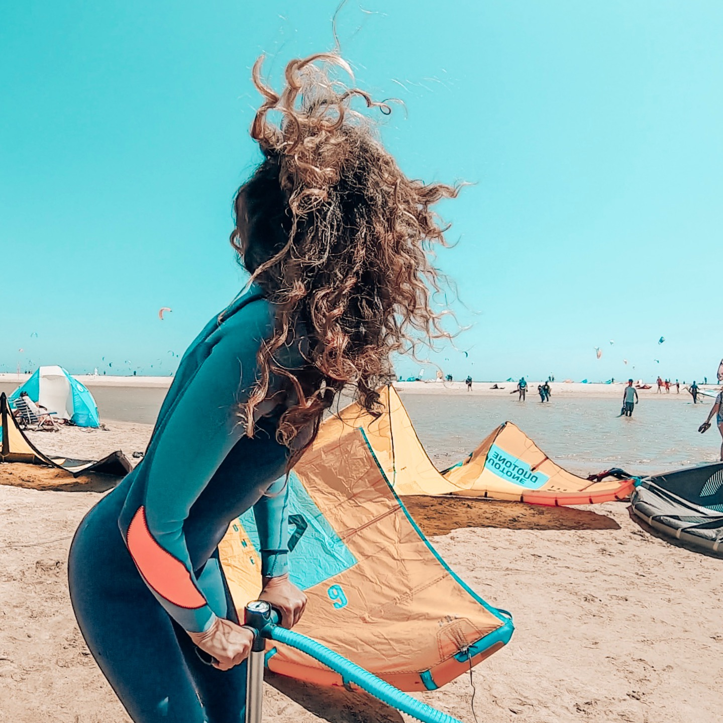 Kitesurf event only girls